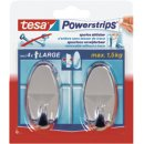 Tesa, 2 Stk. Powerstrips Large, oval, chrom